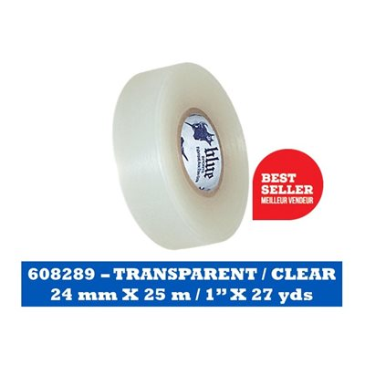 "TRANSPARENT- 24 mm x 25 m / CLEAR 1"" x 27 yds"
