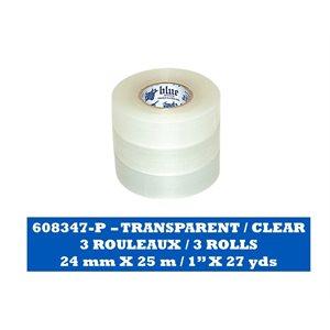 TRANSPARENT Paquet de 3 rouleaux / CLEAR Pack of 3 rolls