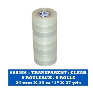 TRANSPARENT Paquet de 8 rouleaux / CLEAR Pack of 8 rolls