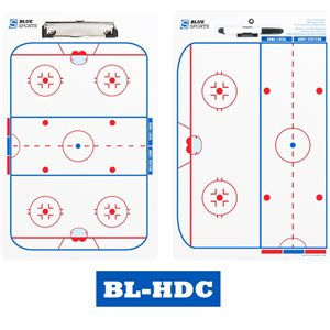 "Clipboard Deluxe hockey glaces 10""x 16"" - 2 Faces"