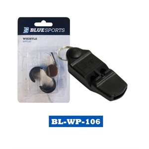 Sifflet Blue Sports plastique / Blue Sports Pealess Plastic Whistle Petit / Small